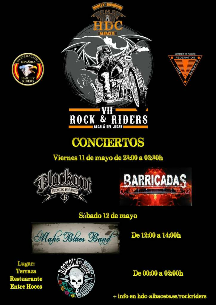 Cartel grupos VII Rock n´riders